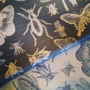 Win me - what would you make with a metre of this beautiful insect fabric?