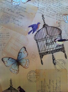 Birdcage and Butterfly -£4.95 per metre
