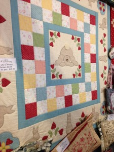 How cute is this quilt? Love the bunnies tail!